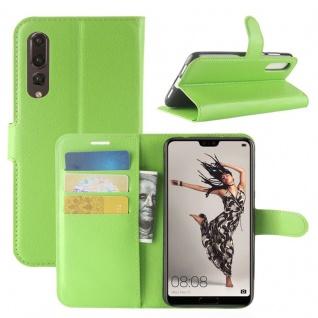 Tasche Wallet Premium Grün für Huawei P20 Pro Hülle Case Cover Schutz Schale Neu