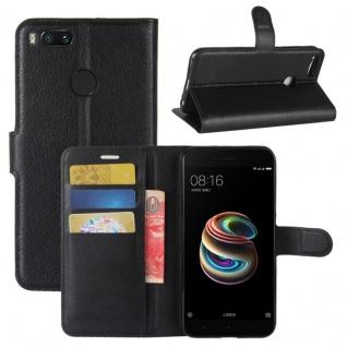 Schutzhülle Schwarz für Xiaomi Mi 5X Bookcover Tasche Case Etui Neu Zubehör Top