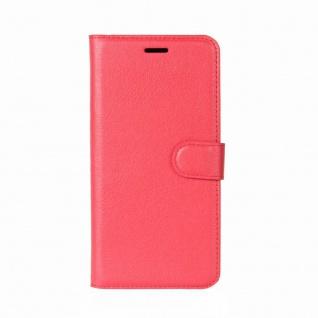 Tasche Wallet Premium Rot für Sony Xperia XZ2 Hülle Case Cover Schutz Etui Neu - Vorschau 2