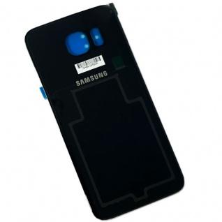Samsung Galaxy S6 Edge G925 G925F Akkudeckel Deckel + Klebepad Adhesive Schwarz