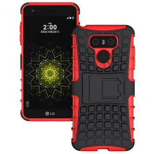 Hybrid Case 2teilig Outdoor Rot für LG G6 H870 Tasche Hülle Cover Neu Schutz Top