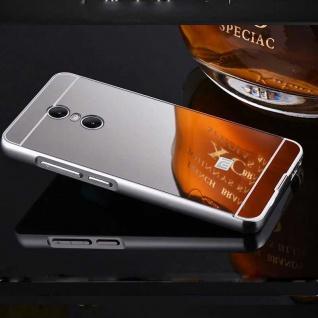 Spiegel / Mirror Alu Bumper 2teilig Silber für Xiaomi Redmi 5 Tasche Hülle Cover