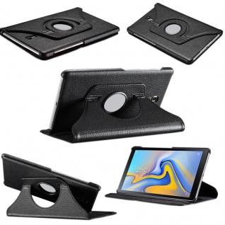 Für Samsung Galaxy Tab S4 10.5 T830 T835F Schwarz 360 Grad Kunstleder Tasche Neu