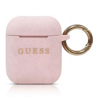 Guess Apple Airpods Cover Pink Glitter Schutzhülle Tasche Case Etui Halter
