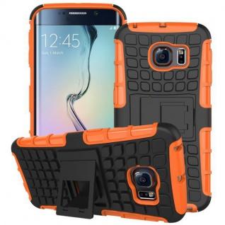 Hybrid Case 2 teilig Robot Orange für Samsung Galaxy S6 Edge G925 G925F Hülle