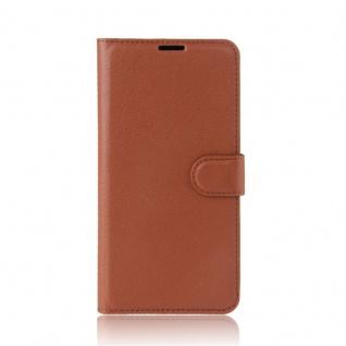 Tasche Wallet Premium Braun für Wiko Upulse Lite Hülle Case Cover Etui Schutz - Vorschau 2