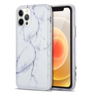Für Apple iPhone 12 Mini Muster Silikon TPU Handy Tasche Hülle Weiß
