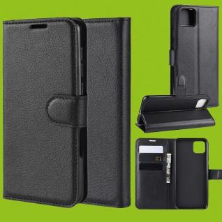 Für Google Pixel 4 Tasche Wallet Premium Schwarz Hülle Etuis Cover Case Schutz