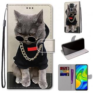 Für Xiaomi Redmi Note 9 Kunst-Leder Handy Tasche Motiv 2 Hülle Etuis Cover Neu