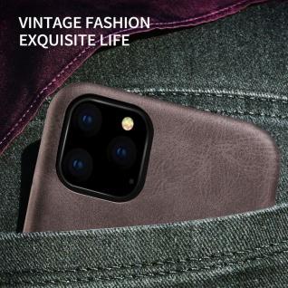 Kunstleder Tasche Hülle Vintage Cover für Apple iPhone 11 Pro Schutzhülle Rot - Vorschau 2