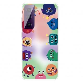 Für Samsung Galaxy S21 Plus Silikon TPU Monster Handy Hülle