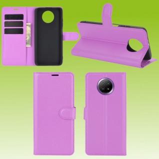 Für Xiaomi Redmi Note 9T 5G Handy Tasche Lila Etuis Kunst-Leder Cover Hülle Case