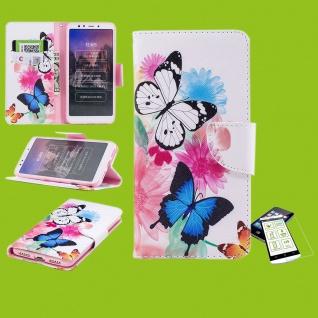Für Huawei P30 Lite Kunstleder Tasche Book Motiv 39 + H9 Glas Hülle Etuis Cover