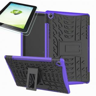 Für Huawei MediaPad M5 10.8 und Pro Hybrid Outdoor Lila Tasche 0.4 H9 Schutzglas