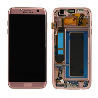 Display LCD Komplettset GH97-18533E Rose Pink für Samsung Galaxy S7 Edge G935F