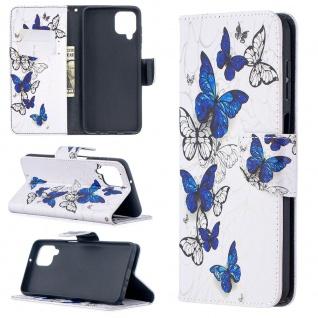 Für Samsung Galaxy A12 A125F Kunst-Leder Handy Tasche Motiv 7 Hülle Case Etuis