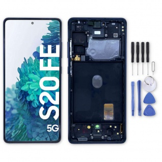 Samsung Display LCD Kompletteinheit für Galaxy S20 FE GH82-24219A Cloud Navy