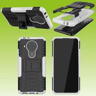 Für Nokia 5.4 Outdoor Weiß Handy Tasche Etuis Hülle Cover Case Schutz Zubehör
