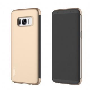Original ROCK Shadow Smartcover Tasche Gold für Samsung Galaxy S8 Plus G955F Neu