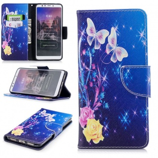 Für Huawei P20 Lite Kunstleder Tasche Book Motiv 37 Schutz Hülle Case Cover Etui