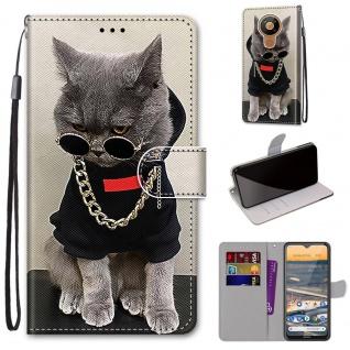 Für Nokia 5.3 Kunst-Leder Handy Tasche Motiv 2 Hülle Case Etuis Cover Schutz Neu