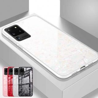 Für Samsung Galaxy S20 Ultra Color Effekt Glas Cover Weiß Handy Tasche Etuis Neu