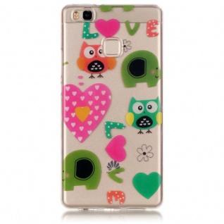 Silikoncase TPU Eule Love Hülle für Huawei P9 Lite Tasche Cover Tasche Cover Neu