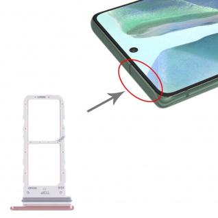 Dual Sim Karten Halter für Samsung Galaxy Note 20 Pink Card Tray Ersatzteil