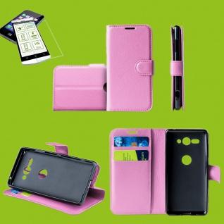 Für Samsung Galaxy A50 6.4 Zoll Tasche Wallet Rosa Hülle Etuis + H9 Hart Glas