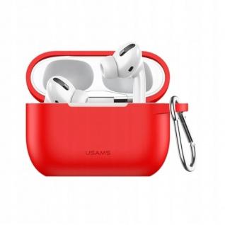 USAMS Apple AirPods Pro Cover Rot Karabiner Schutzhülle Tasche Case Etui