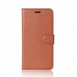 Tasche Wallet Premium Braun für Huawei Honor 6A Hülle Case Cover Etui Neu Schutz - Vorschau 2