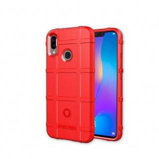 Für Huawei P Smart Plus Shield Series Outdoor Rot Tasche Hülle Cover Schutz Neu