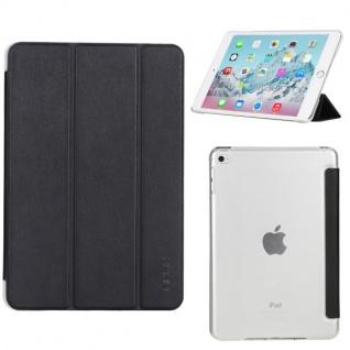 Rock Smartcover Schwarz Cover Tasche für Apple iPad Mini 4 7.9 Zoll Hülle Case