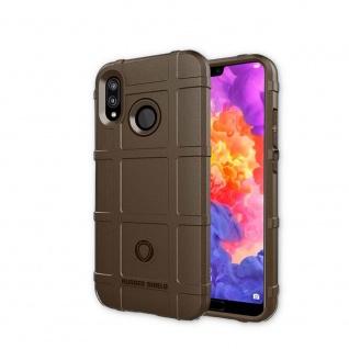 Für Huawei P Smart Plus Shield Series Outdoor Braun Tasche Hülle Cover Schutz