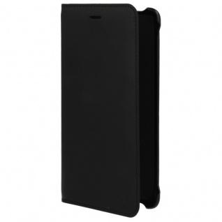 Slim Flip Ledertasche CP-801 Leder Tasche für Nokia 8 Schutz Hülle Etui Schwarz