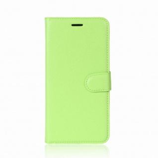 Tasche Wallet Premium Grün für Wiko Sunny 2 Plus Hülle Case Cover Etui Schutz - Vorschau 2