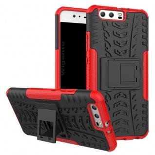 New Hybrid Case 2teilig Outdoor Rot für Huawei P10 Plus Tasche Hülle Cover Neu