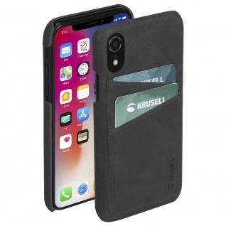 Ledercover Cover Case für Apple iPhone XR 6.1 Leder Schutz Hülle Black Neu