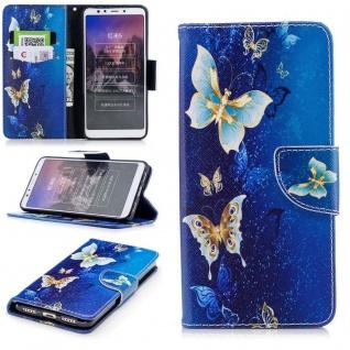 Für Huawei P20 Kunstleder Tasche Book Motiv 38 Schutz Hülle Case Cover Etui Neu