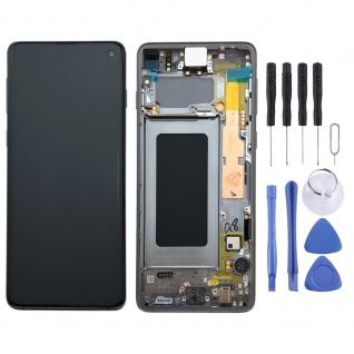 Samsung Display Full LCD Komplettset GH82-18850A Schwarz für Galaxy S10 G973F 6.1 Zoll