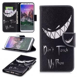 Für Huawei P20 Tasche Book Motiv 40 Kunstleder Schutz Hülle Case Cover Etui Neu