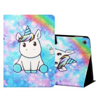 Für Huawei MediaPad M5 Lite 10.1 Motiv 2 Tablet Tasche Kunst Leder Hülle Etuis