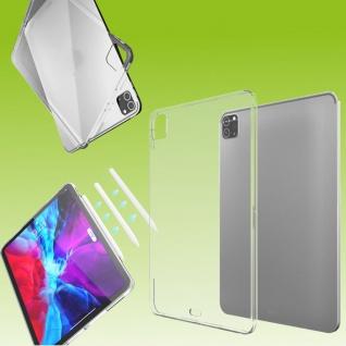 Für Apple iPad Pro 12.9 2021 Transparent Tablet Tasche Hülle TPU Silikon dünn