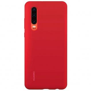 Silicone Car Case Rot für Huawei P30 51992848 Silikon Tasche Etui Schutz Schale