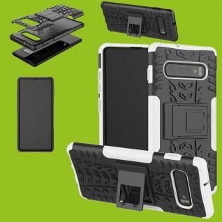 Für Samsung Galaxy Galaxy S10 G973F 6.1 Hybrid 2teilig Outdoor Weiß Tasche Cover
