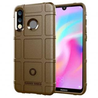 Für Huawei P30 Lite Shield Series Outdoor Braun Tasche Hülle Cover Etuis Case