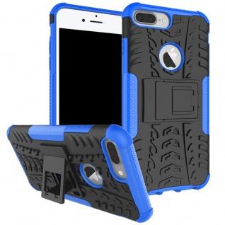 New Hybrid Case 2teilig Outdoor Blau für Apple iPhone 8 und 7 Plus 5.5 Tasche