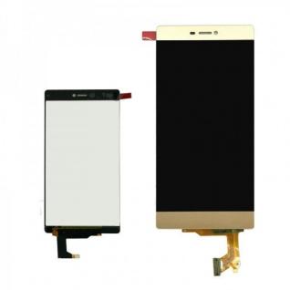 Display LCD Komplett Einheit für Huawei Ascend P8 Reparatur Gold Flex Glas Neu