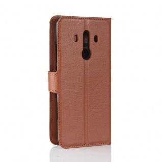 Tasche Wallet Premium Braun für Huawei Mate 10 Pro Hülle Case Cover Etui Schutz - Vorschau 3