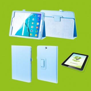 Für Samsung Galaxy Tab S5e 10.5 T720F H-Blau Etuis Tasche Kunst Leder + H9 Glas